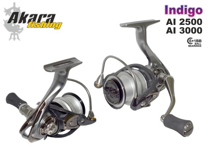 Bezin. spole AKARA «Indigo» AI-3000 (6+1 bb, 0,30/140 mm/m, 5,1:1)