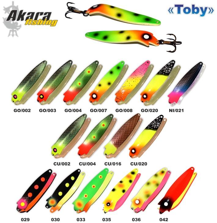 Māneklis AKARA «Toby» 90 P0206 SH (šūpojošs, 22 g, 90 mm, krāsa: O35, iep. 1 gab.)