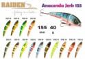 @ Vobleris RAIDEN «Anaconda Jerk» 155 WS (40 g, 155 mm, krāsa SS05-03, iep. 1 gab.) koks