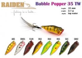 @ Vobleris RAIDEN «Bubble Popper» 35 TW (2,1 g, 35 mm, krāsa FL09, iep. 1 gab.)