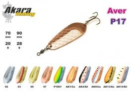 @ Māneklis AKARA «Aver» Profi P17 SH (šūpojošs, 28 g, 90 mm, krāsa: AK4/SIL, iep. 5 gab.)