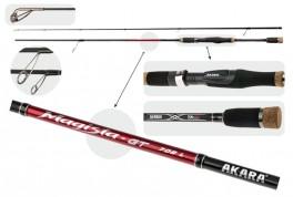 Fishing rod AKARA «MAGISTA-GT L TX-30» 2X (plug rod, 2,28 m, carbone, 132 g, test:2,5-11,0 g) 762 L