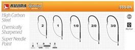 Āķi KUJIRA 555 (Nr. 3/0, BN, džīgu, pretzāļu, iep. 5 gab.)