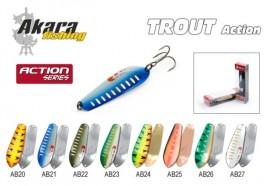 Māneklis AKARA «Trout» Action SH (šūpojošs, 22 g, 75 mm, krāsa: AB20, iep. 1 gab.)