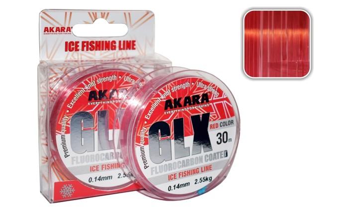 Леска AKARA «GLX Ice Red 30» (моно, красный, 30 м, 0,12 мм, 1,90 кг, упак. 1 шт.)