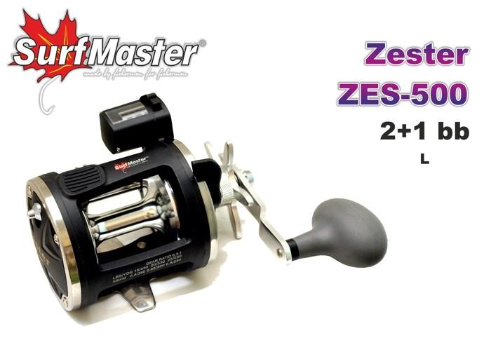 Мультипликатор SURF MASTER «Zester» ZES-500 (2+1 bb, 0,40/390 мм/м, 6,3:1) правый