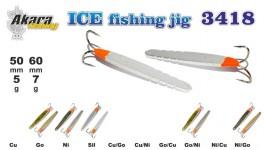 Ziemas māneklis «Ice Jig» 3418P (vert., 50 mm, 5 g, krāsa: SIL, iepak. 1 gab.)