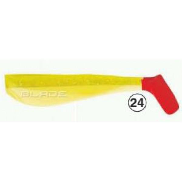 Gumijas zivtiņas BLADE 100mm 10 gab.  krāsa *24