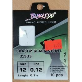 """Крючки, оснащенные поводком """"Bushido"""" 31533 (0.12mm, №12)"""