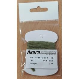 @ Mušu sienamais materiāls AKARA Velvett Chenille RC-6 (3,0 m, krāsa: olive)
