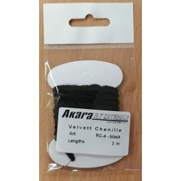 @ Mušu sienamais materiāls AKARA Velvett Chenille RC-4 (3,0 m, krāsa: black)