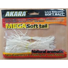 Materiāls AKARA Silicone Legs (14 cm, krāsa: sudraba balta)