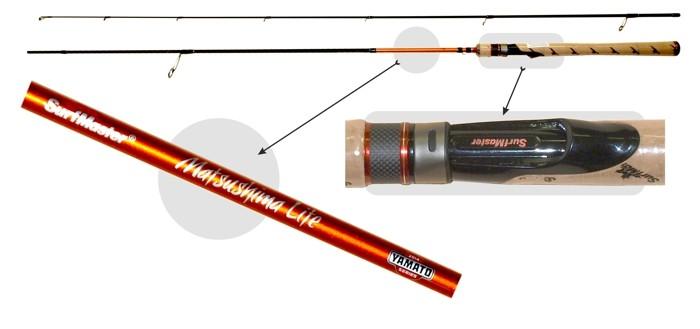 @ Makšķerkāts SURF MASTER «Yamato MATSUSHIMA Lite TX-20» YS5001 2X (saliek., 2,40 m, oglekļšķ., 112 g, tests: 2-7 g)