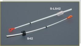 Lavsāna sardziņš AKARA S 42 (gumijas stipr., 120 mm, stingrums: 0,25, slodze: 0,20 - 0,40 g, iepak. 25 gab.)